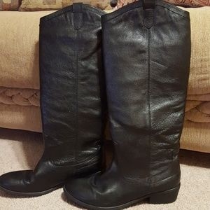 Franco Fortini Winchester black leather boots